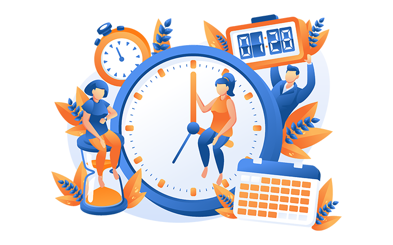 Online courses time managing schedules.